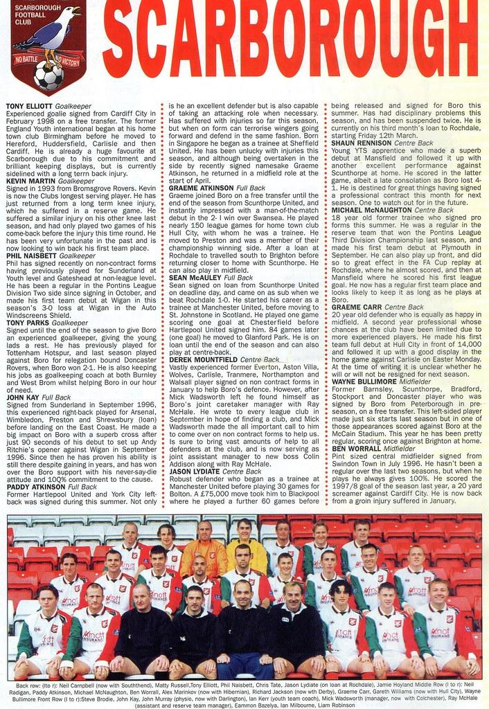 (Programme) 01-05-1999 Halifax Town 1-2 Scarborough 3