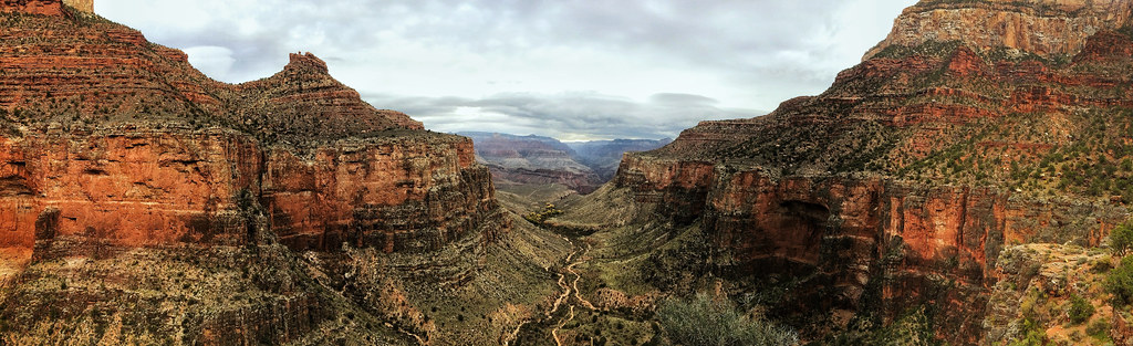 Cloudy Morning Over Bright Angel Trail