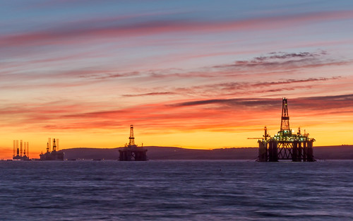 2019 colour cromarty drilling firth highland invergordon oil platform rig scotland sea sunrise vivid twilight water stoates steveoates olympus