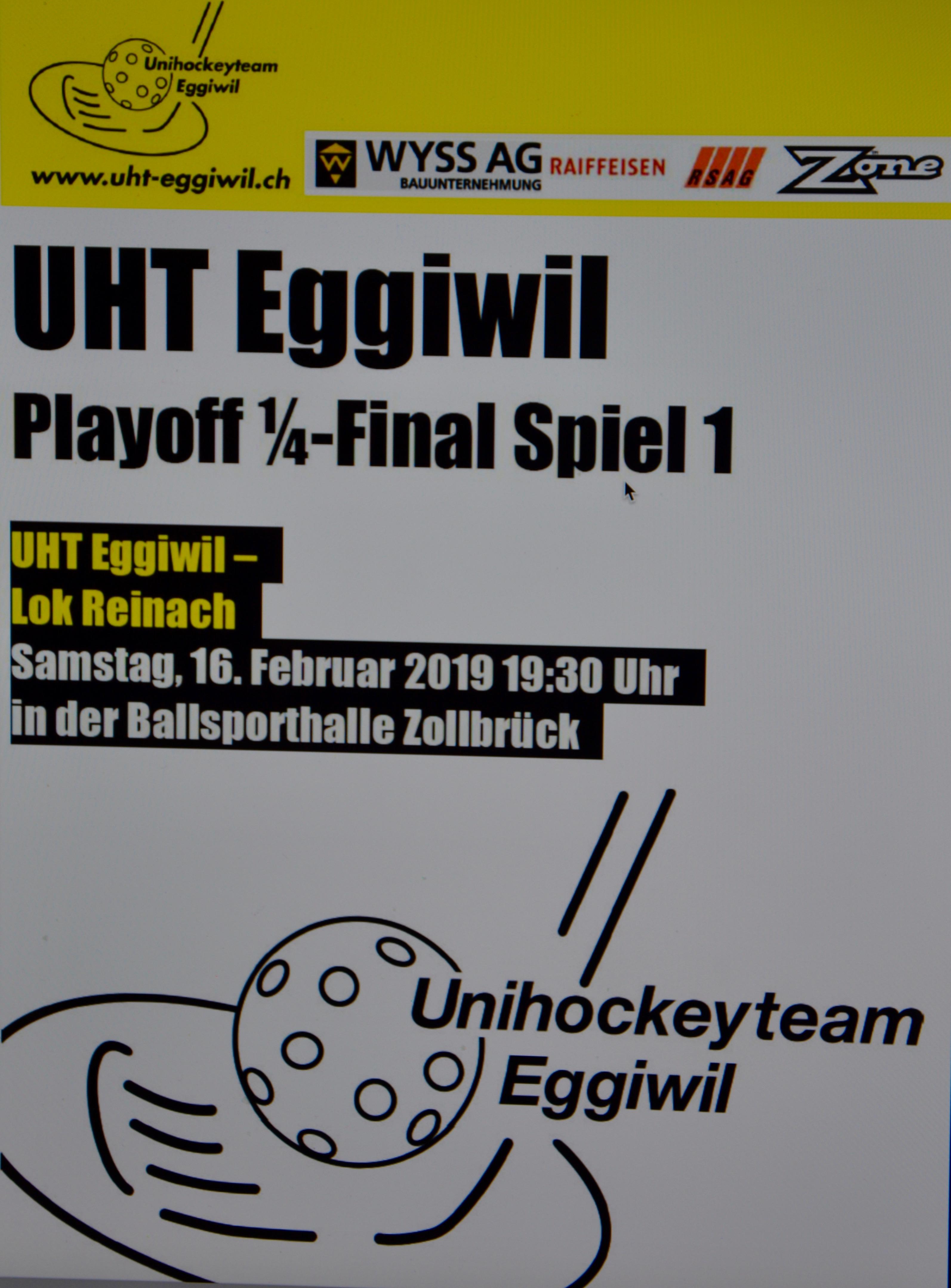 Herren l - Lok Reinach, Saison 2018/19 Payoff 1/4-Final Spiel 1