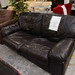 2 seater brown leatherette. Sofa bed E150