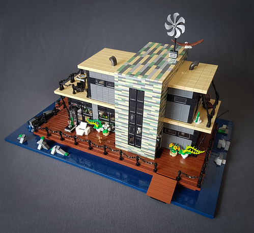Shallow-Water House MOC. Front slightly from above. | by betweenbrickwalls