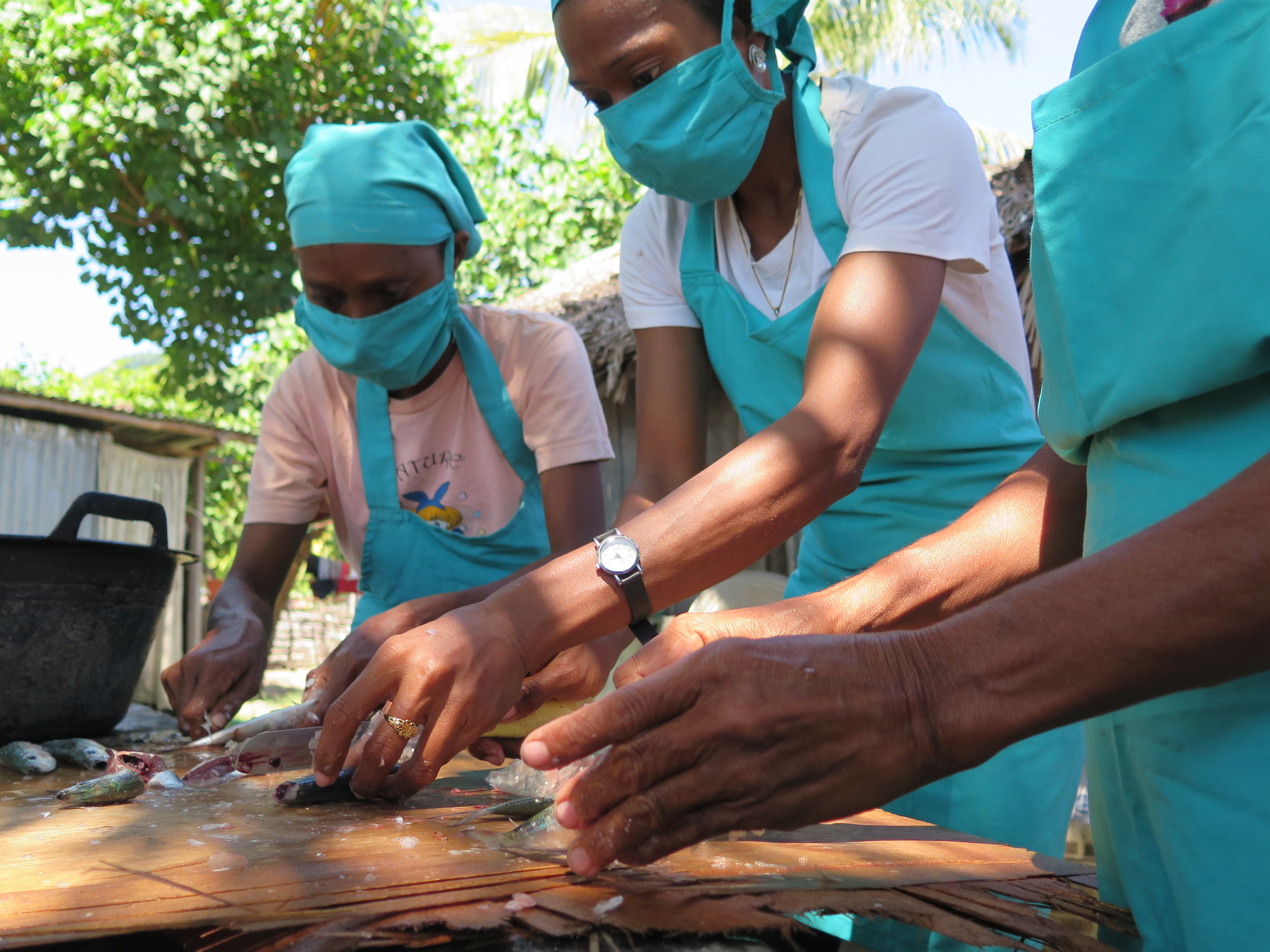 Youth women find economic opportunities in the processing and trade of small fish in Timor-Leste