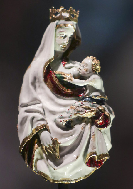 Virgin and Child, France, about 1400-10 with the 19th-century crown