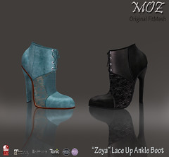 """MOZ """"Zoya"""" Lace Up Ankle Boot"""