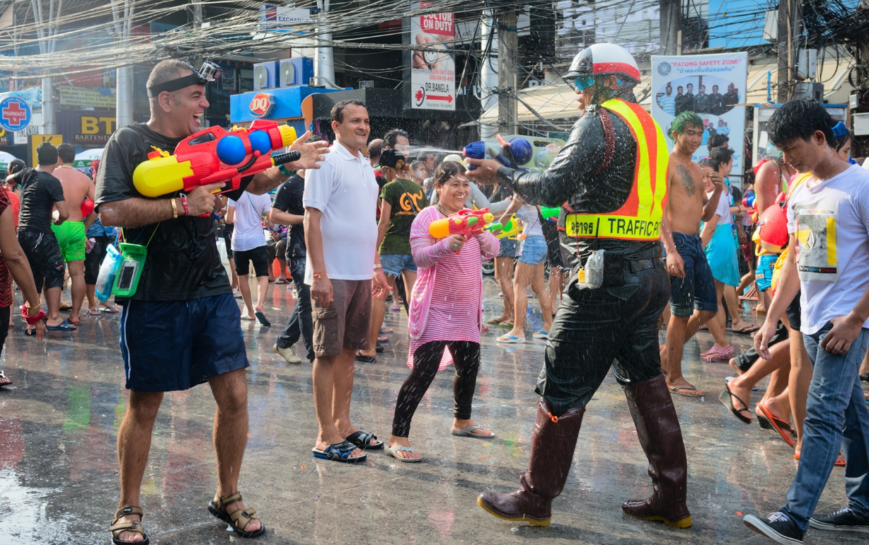 Songkran mayhem in Thailand