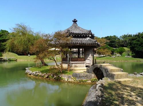 Pavillion im Park von Naha auf Okinawa