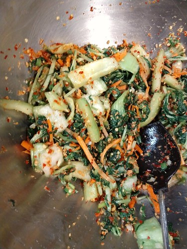 Mixed spices and vegetables for kimchi. | by pepperhead212