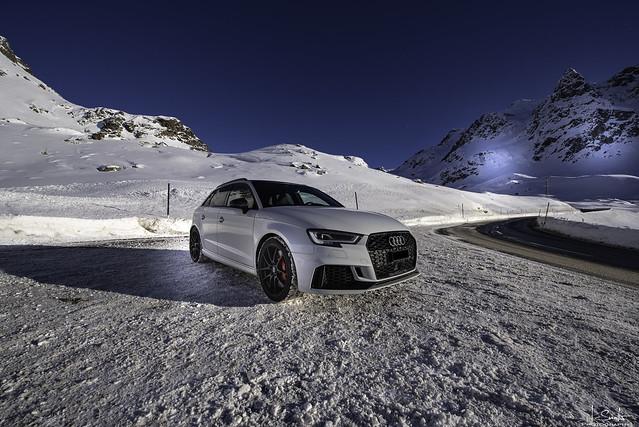 Crossing Julierpass with Audi RS3 - Graubünden - Switzerland