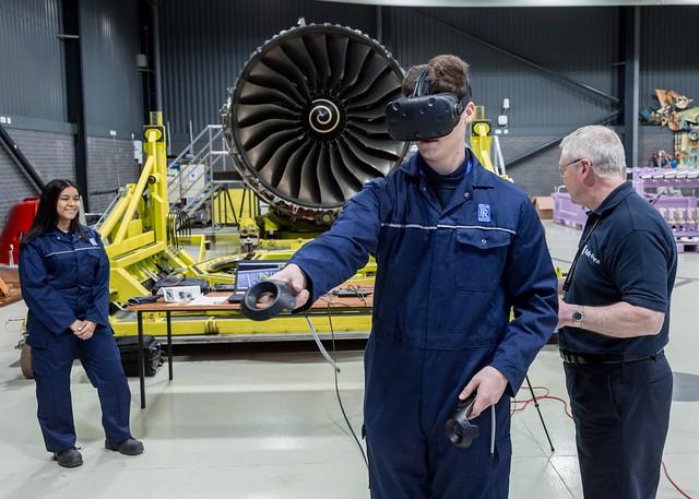 Trent XWB virtual reality engine training