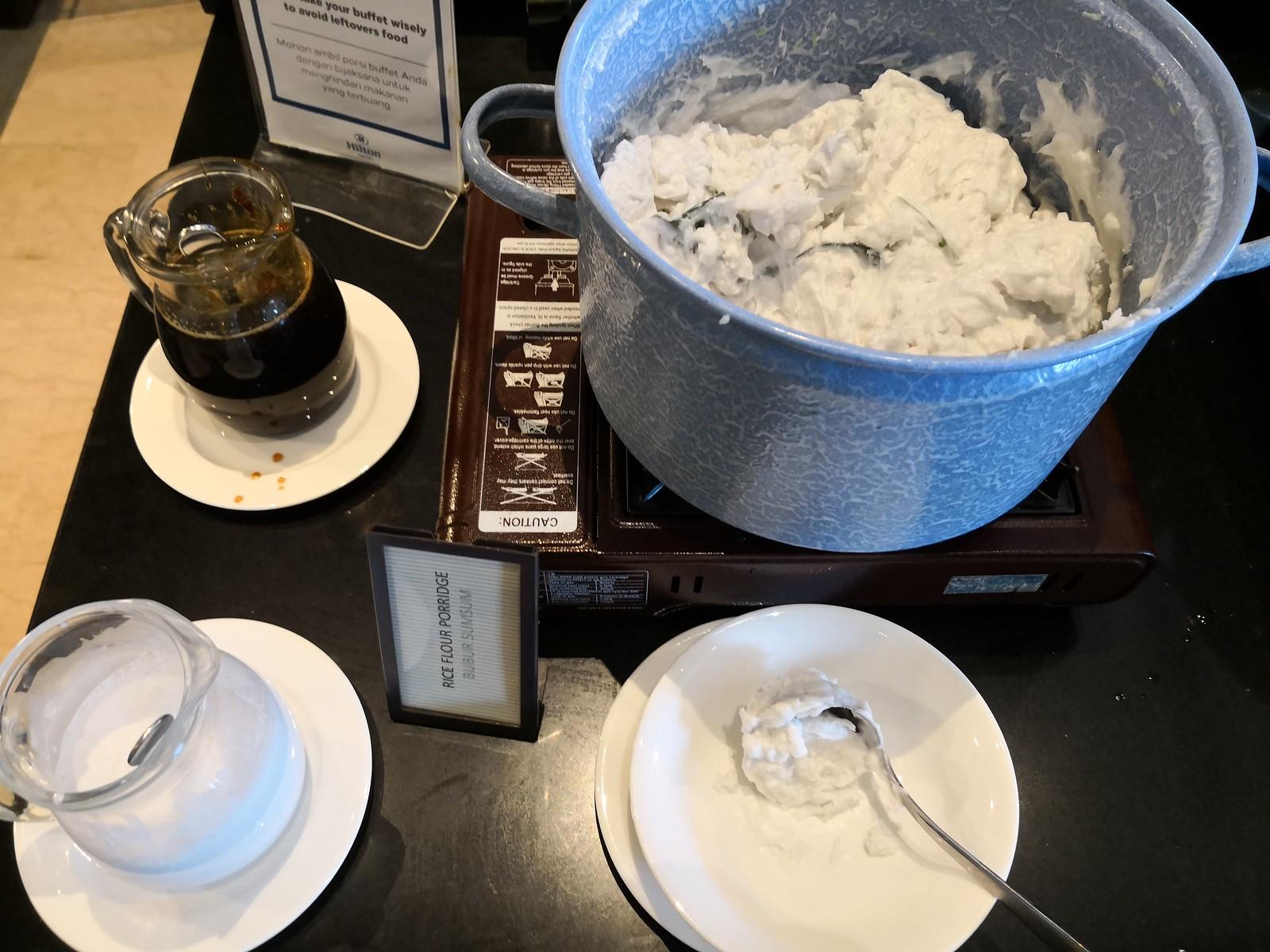 Rice flour porridge