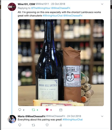 Wining Hour Chat with Wine101Hamden Chris Answer 5, part 1 | by WineAndCheeseFriday