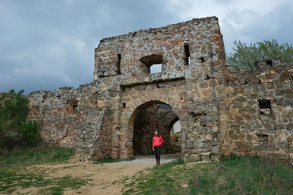 Copy of Eger castle ruins, Pilis Mountains, Hungary
