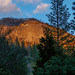 Sunset view of Wawona Dome from the Longview cabin