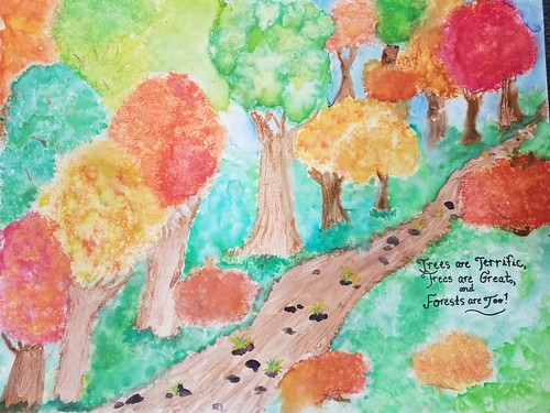 Winning entry of the 2019 Arbor Day Poster Contest, by Lydia Secrist of Garrett County