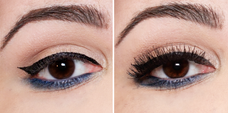 before & after ardell magnet double wispies
