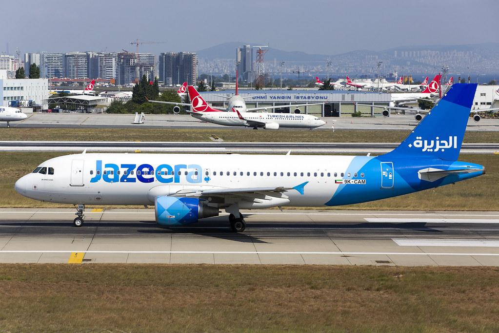 9K-CAM A320 Jazeera Airways  27-08-18 IST maarten-sr