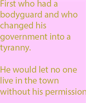 1-7  he would let no one live in the town without his permission