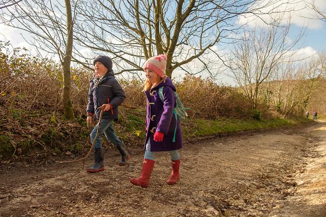 Family walk in the woods - DSCF5898