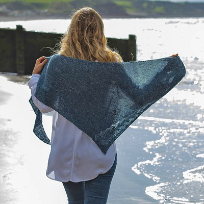 Irish Sea by Susanna Winter is a free pattern with purchase of The Fibre Company Meadow