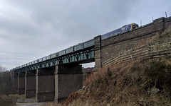 Train over Newtonhill Bridge