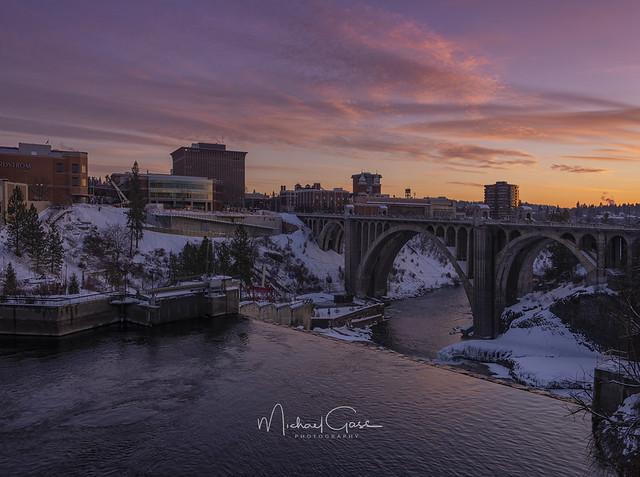 Spokane Winter Sunset