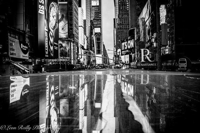Times Square Reflection, NYC