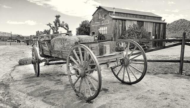 Wagon at Pioneertown, CA