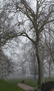 Misty London morning
