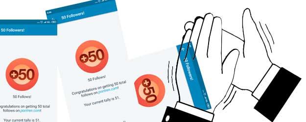 50 Follows dalam 2 tahun ngeblog