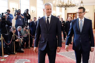 Spotkanie premiera z ministrem Bruno Le Maire'em