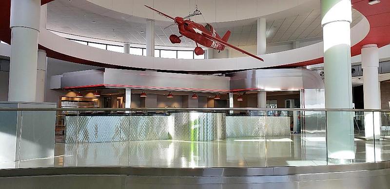 ROC Greater Rochester International Airport west rotunda concession construction 2018 Dec 19