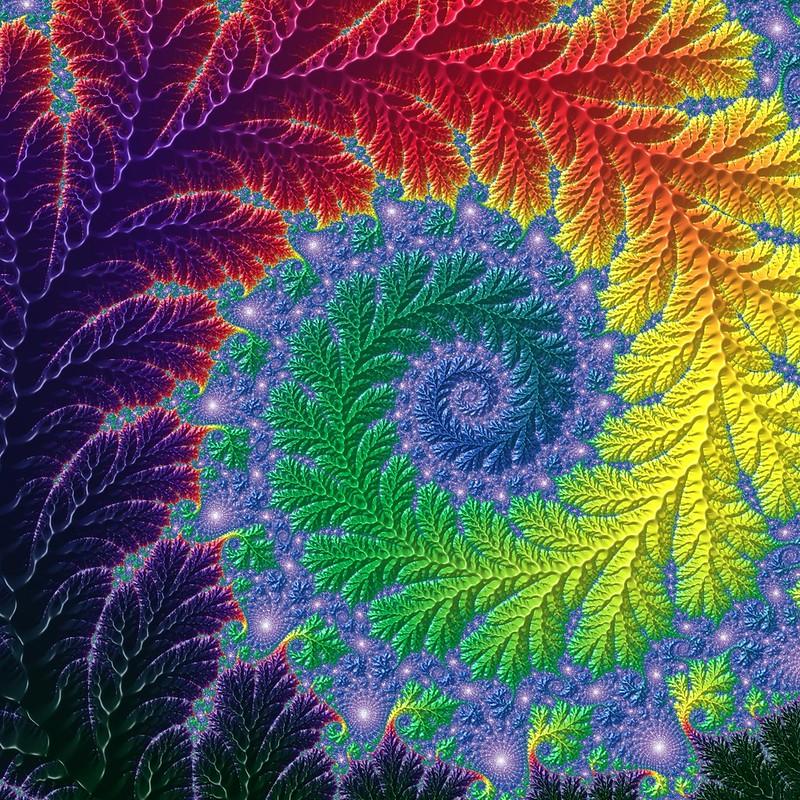 Обои фрактал, узоры, спириаль, разноцветный, закрученный картинки на рабочий стол, фото скачать бесплатно