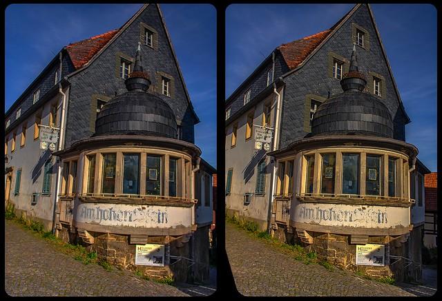 Am hohen Stein in Hohnstein 3-D / CrossView / Stereoscopy