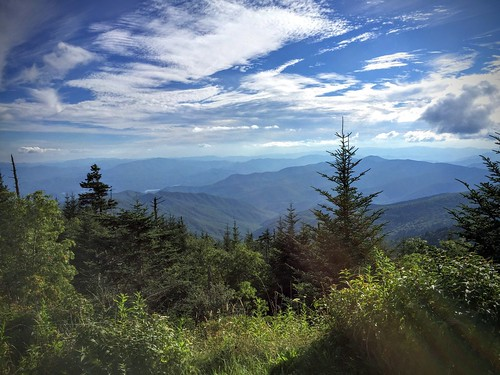 smokymountainsnationalpark clingmansdome mountains northcarolina scenic trees blue green view nationalpark