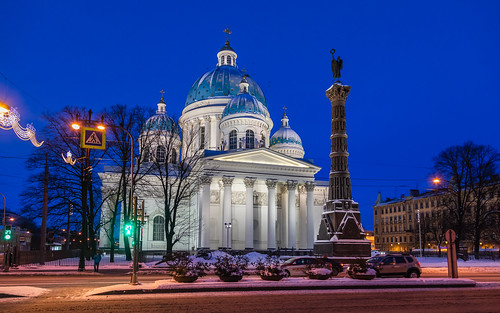 saintpetersburg sunrise winter church nature people city cityscape old town snow cathedral exterior blue building dome cross avenue sky orthodox morning architecture skyscape russia design outdoor white catedral petersburg prospect st leningradoblast ru
