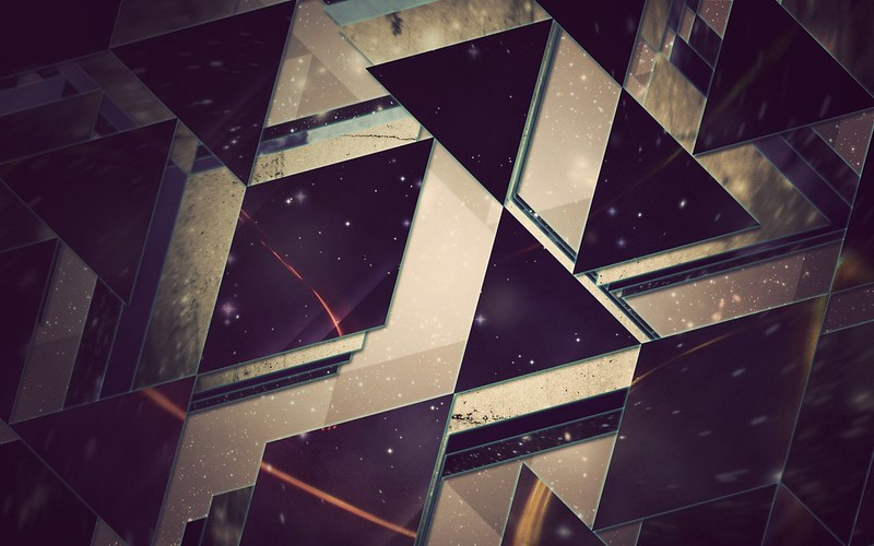 Обои треугольники, фон, свет картинки на рабочий стол, фото скачать бесплатно