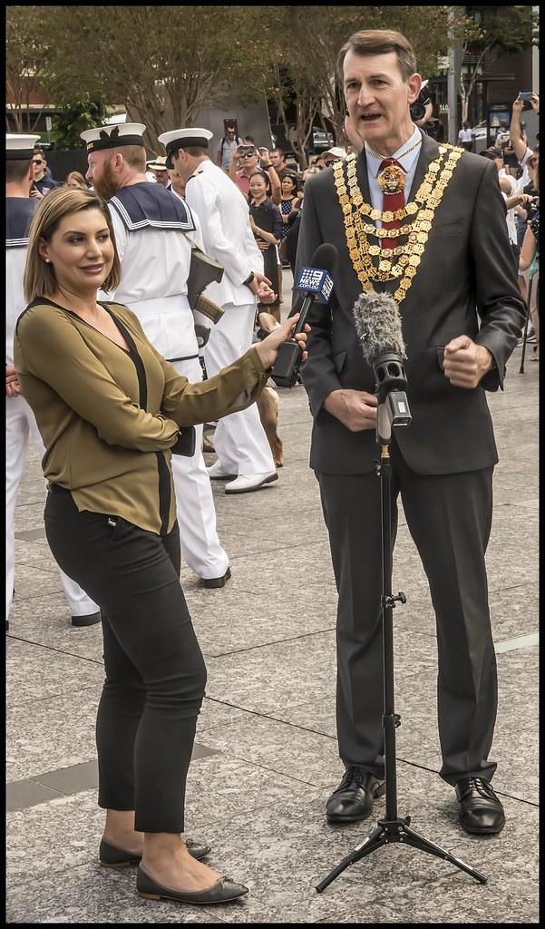Brisbane Lord Mayor being interviewed-1=