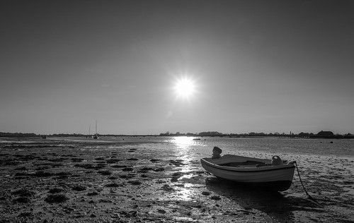 bosham sunsetting boatsatlowtide boats muddywaters westsussex mono monochrome blackandwhite