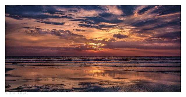Spectacular Sunset, Cavelossim, Goa, India.