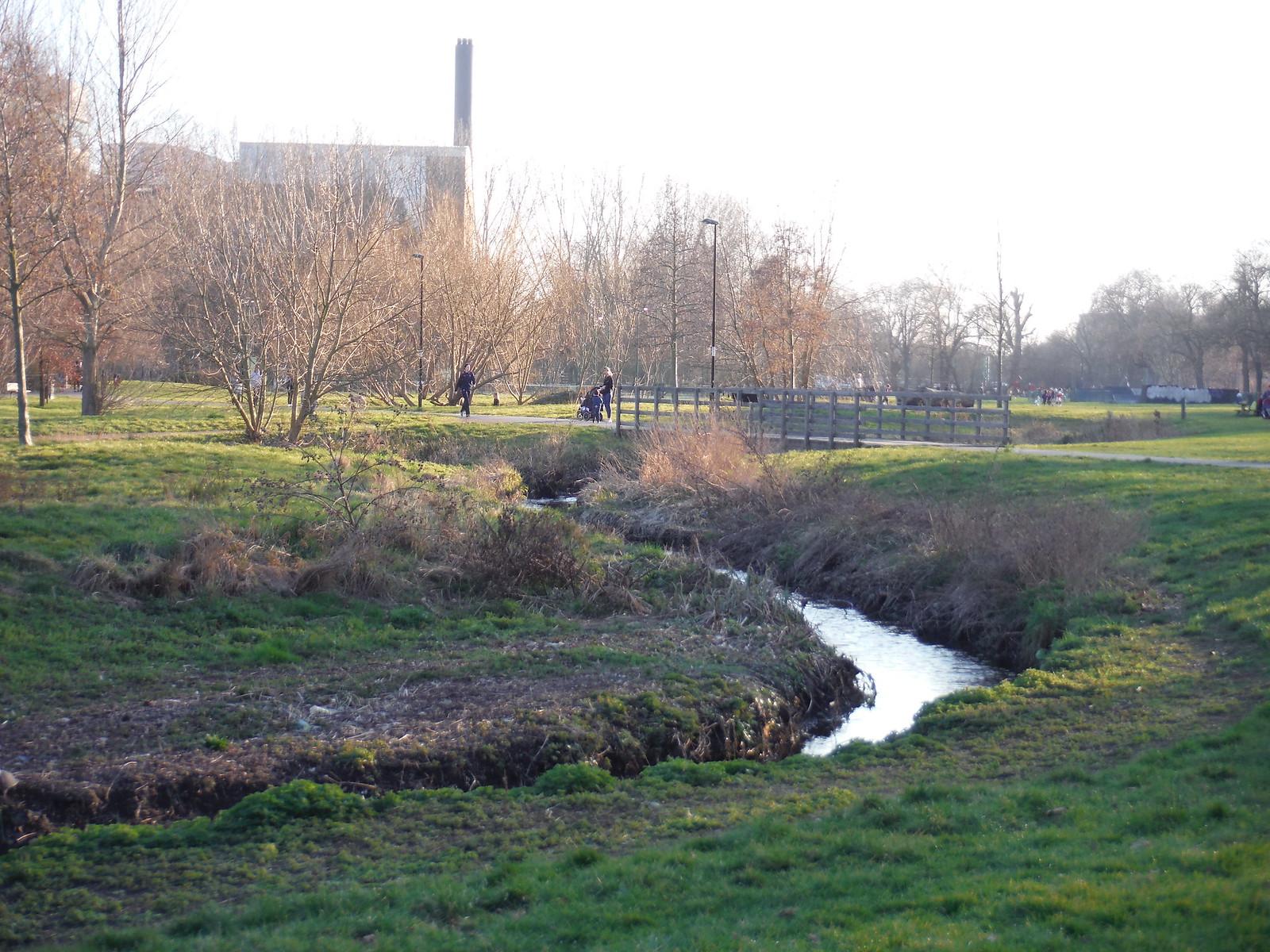 Restored Channel of the Ravensbourne, Ladywell Fields SWC Short Walk 36 - Waterlink Way (Lower Sydenham to Greenwich)
