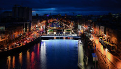 River Liffey at Night - Dublin Ireland