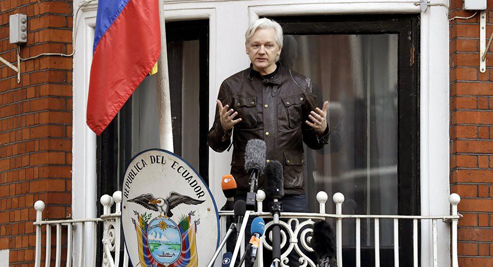 維基解密創辦人阿桑奇於2012年起進入厄瓜多駐倫敦大使館。(圖片來源:Matt Dunham/AP)