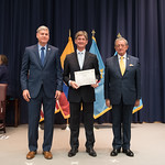 Fri, 03/29/2019 - 14:34 - On Friday, March 29, 2019, the William J. Perry Center for Hemispheric Defense Studies hosted a graduation ceremony for two courses: 'Strategic Implications of Human Rights and Rule of Law' and 'Combating Transnational Threat Networks.' Students from all over the Americas attended the courses from March 18-29, 2019. The graduation ceremony and reception took place in Lincoln Hall at the National Defense University's North Campus at Fort McNair in Washington, DC.