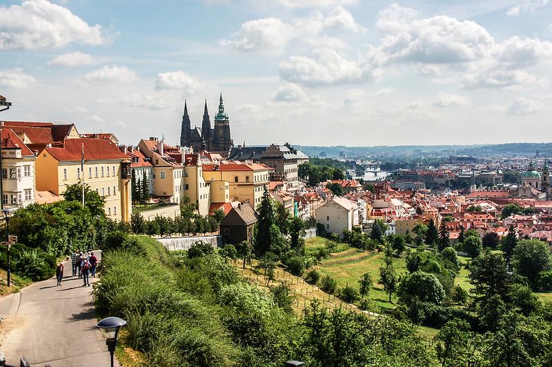 斯特拉霍夫修道院後俯瞰布拉格市區 1