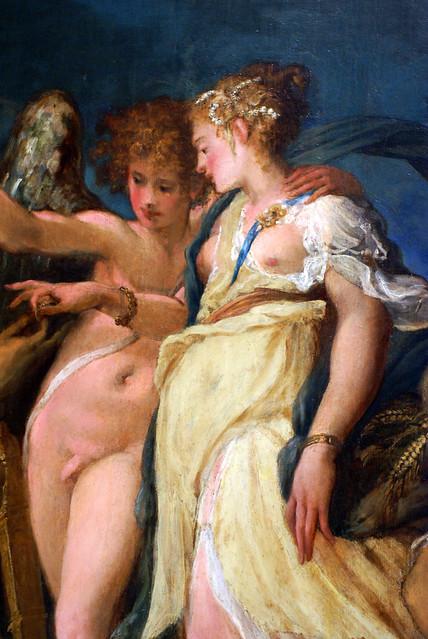 Andrea Schiavone, Die Hochzeit von Amor und Psyche - The Marriage of Cupid and Psyche - Nozze tra Cupido e Psiche - Detail