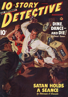 10-Story Detective v06 n03 [1942-01] cover   by Siren in the Night