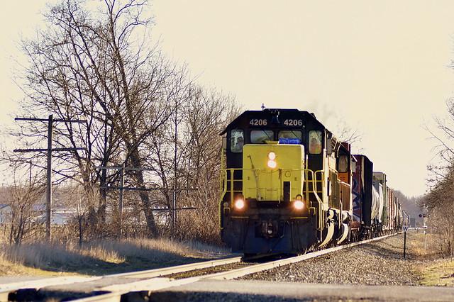 Grand Elk train near White Pigeon Michigan