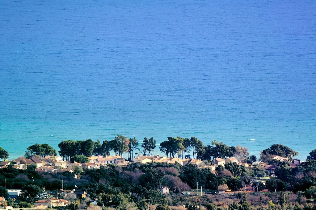 Mer D Un Beau Bleu Mer Tyrrhénienne Et Costa Verde Vues De