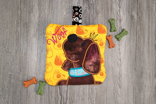 Dog Treat Pouch - Front | by Christy @ Raining Crafts & Dogs